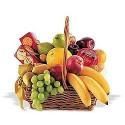 Cesta clásica con galletas y frutas