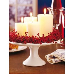 base con velas adornadas. Base with decorated candles