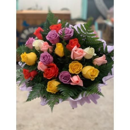 12 rosas multi color