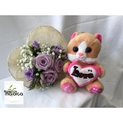 bouquet with stuffed animal for girl